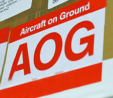 Aircraft On Ground Emergency Transport Sticker